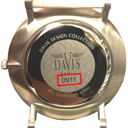 Watch case backside Davis