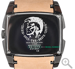 Watch case backside Diesel