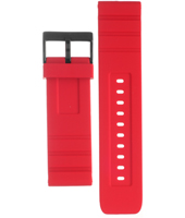 AADH2909 ADH2909 24mm Red rubber strap