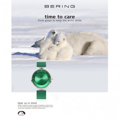 Green Solar Powered Design Watch Colecção Primavera/Verão Bering