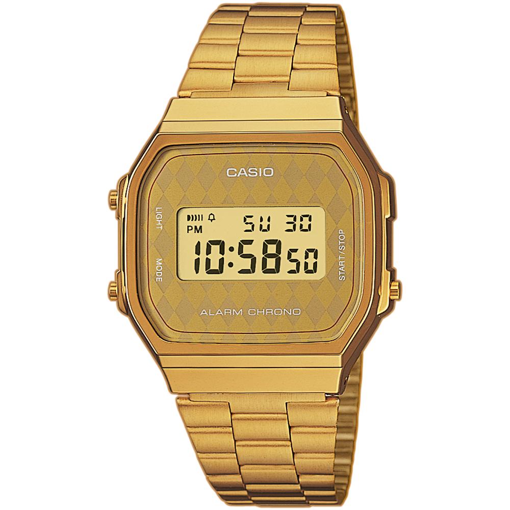 56dacac26a1 Relógio Casio Retro Digital A168WG-9BWEF Retro Mirror • EAN ...