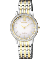 EX1484-81A Elegance Eco-Drive 24mm Two tone solar powered ladies watch