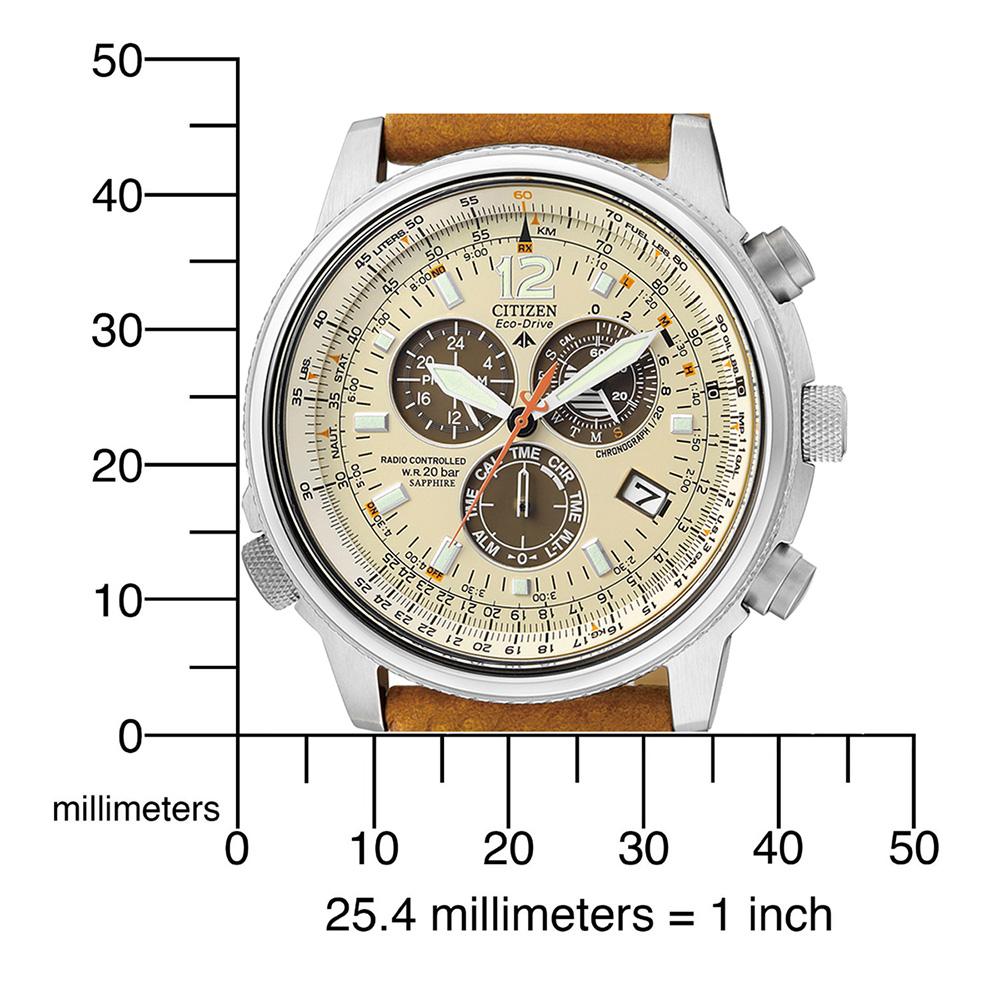 1a32561883d relógio prata Radio Controlled · Cronógrafo piloto controlado por rádio Colecção  Primavera Verão Citizen