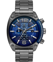 DZ4412 Overflow 49mm Gunmetal & blue chronograph with date