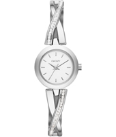NY2173 Crosswalk Silver Ladies Watch with Crystals