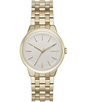 NY2382 Parkslope Gold ladies watch with steel bracelet