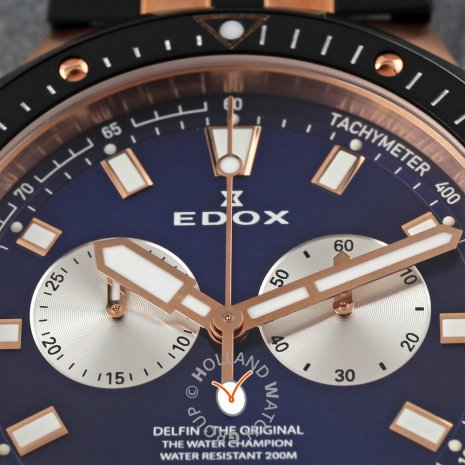Swiss made chronograph with date  Edox