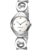 ES108072001 Audrey  26.50mm Silver & White Ladies Watch with Crystal Indexes