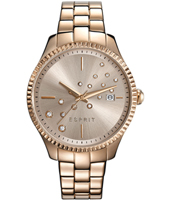 ES108612003 Phoebe 36mm Rose Gold Ladies Watch with Glitter Stones