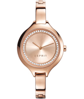 ES108322003 Stacy Rose gold ladies watch with steel bracelet