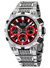 F16774/8 Chrono Bike 44mm Steel & red chronograph with date