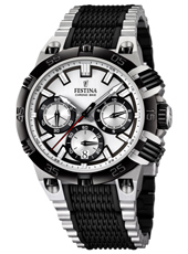 F16775/1 Chrono Bike 44mm Black & white chronograph with date