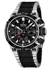 F16775/4 Chrono Bike 44mm Black Tour de chronograph with date