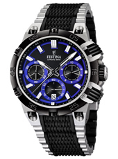 F16775/5 Chrono Bike 44mm Black & royal blue chronograph with date