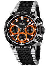 F16775/6 Chrono Bike 44mm Black & orange chronograph with date