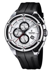 F16882/1 Chrono Bike 44.30mm Black chronograph with Silver dial
