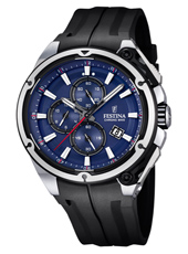F16882/2 Chrono Bike 44.30mm Black chronograph with Blue dial