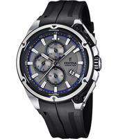 F16882/3 Chrono Bike 44.30mm Black chronograph with Blue details
