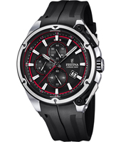 F16882/8 Chrono Bike 44.30mm Black chronograph with red Details