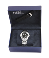 F16636/2 Gift Set 40mm Gents Quartz Watch with Extra Rubber Strap