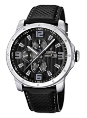 F16585/4 Multifunction 45mm Gents Quartz Watch with DayDate