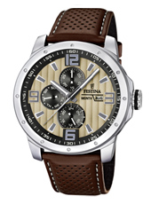 F16585/6 Multifunction 45mm Gents Quartz Watch with DayDate