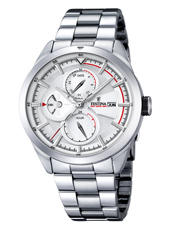 F16828/1 Multifunction 42mm Steel Gents Watch with DayDate and Month