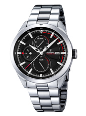 F16828/4 Multifunction 42mm Steel Gents Watch with DayDate and Month