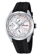 F16829/1 Multifunction 42mm Steel Gents Watch with DayDate and Month
