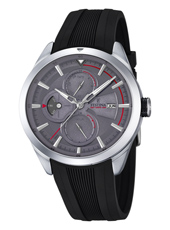 F16829/3 Multifunction 42mm Steel Gents Watch with DayDate and Month