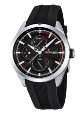 F16829/4 Multifunction 42mm Steel Gents Watch with DayDate and Month
