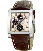 F16235/B Retro 37mm Square Gents Watch with DayDate
