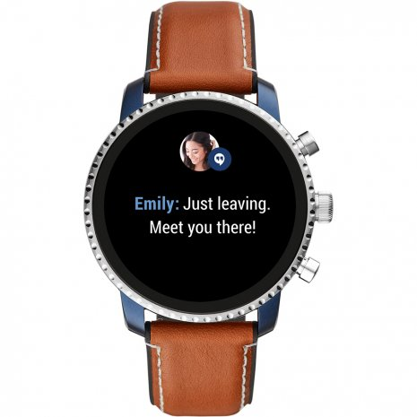 Touchscreen Smartwatch with Leather Strap - Gen4 Colecção Outono/Inverno Fossil