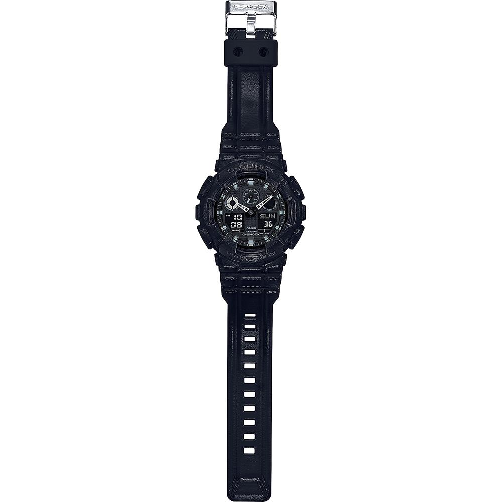 bdd600ce8c2 Relógio G-Shock Classic Style GA-100BT-1AER Black Out Texture • EAN ...
