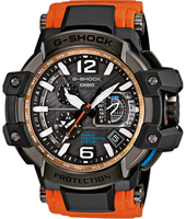GPW-1000-4AER Gravity Master 56mm Black & Orange radio controlled watch with GPS