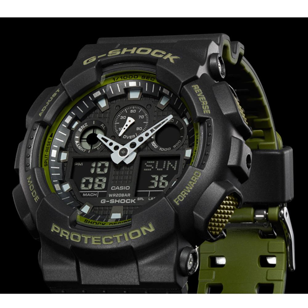 b00d7e25b49 Relógio G-Shock Classic Style GA-100L-1AER Layered Color • EAN ...