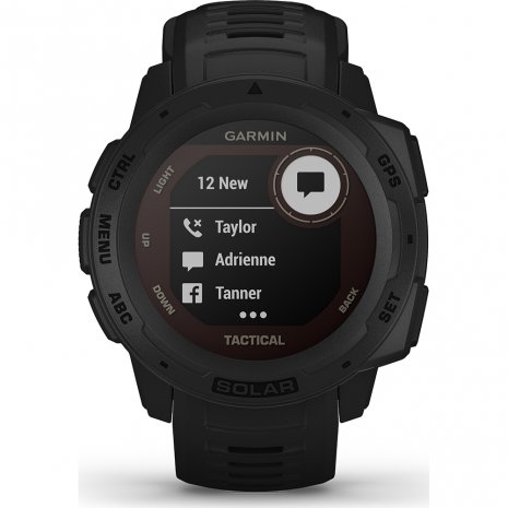 Solar GPS outdoor smartwatch with military functions Colecção Primavera/Verão Garmin