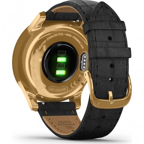 24K Gold Hybrid Smartwatch with hidden touchscreen Colecção Primavera/Verão Garmin