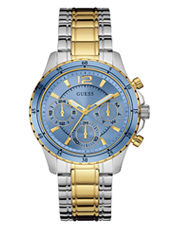 W0639L1 Latitude 40mm Two tone multifunction watch with blue dial