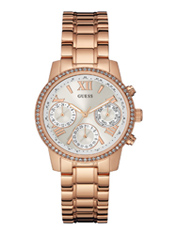 W0623L2 Mini Sunrise 36.50mm Classic rose gold multifunction watch with crystals