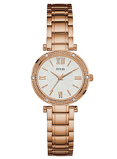 W0767L3 Park Ave South Rose Gold Ladies Watch with Swarovski Crystals