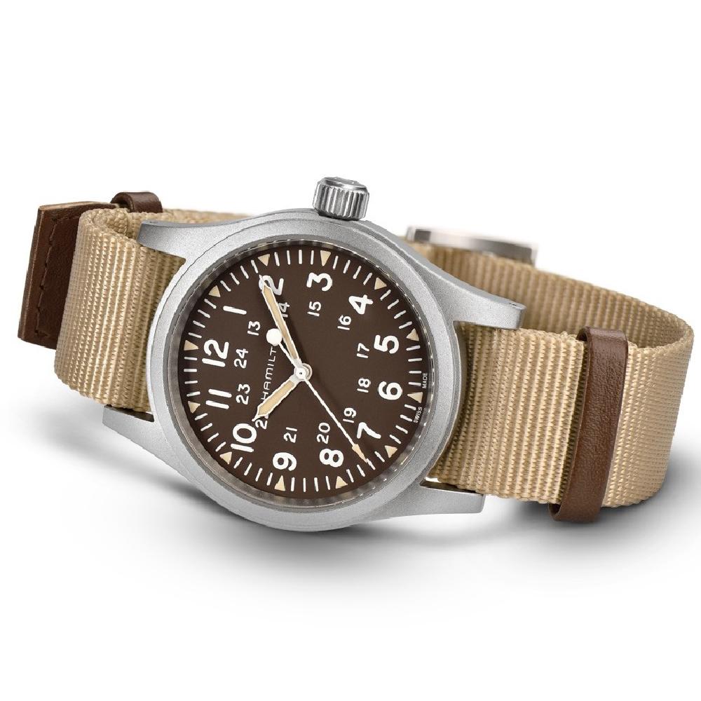 0fd137fefd5 Silver  amp  Brown Gents Mechanical Watch Colecção Primavera Verão Hamilton