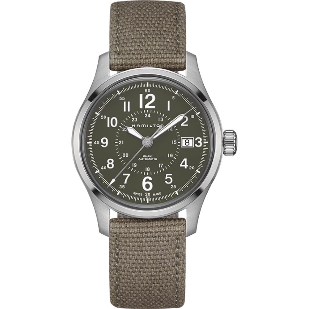 62106fa2812 Relógio Hamilton Kaki H70595963 Khaki Field • EAN  7640167040018 ...