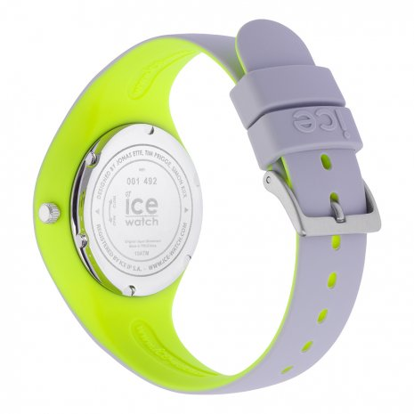Light Grey & Yellow Silicone Watch Size Small Colecção Primavera/Verão Ice-Watch