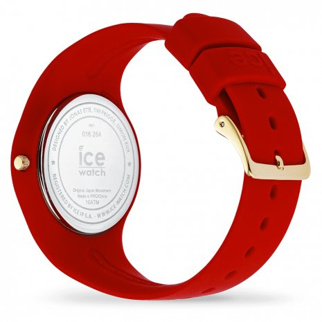 Red & Gold Silicone Watch size Medium Colecção Outono/Inverno Ice-Watch