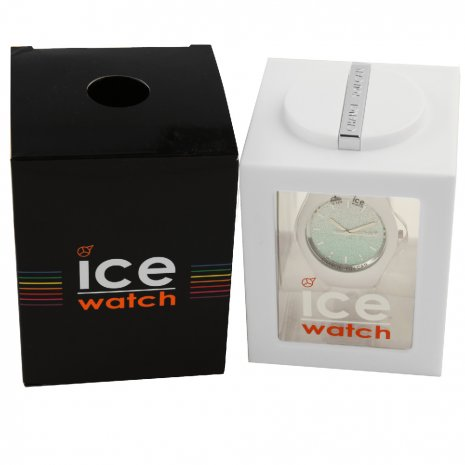 White Ladies Watch with Crystals Size Medium Colecção Primavera/Verão Ice-Watch
