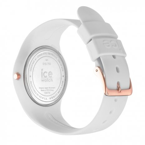 Rose Gold & White Silicone Watch Size Medium Colecção Primavera/Verão Ice-Watch