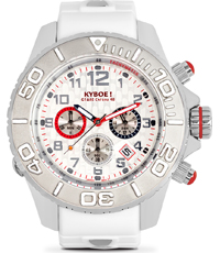 KYM-001-48 Chrono Silver Dice 48mm