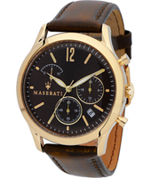 R8871625001 Tradizione 42mm Rose gold & brown gents chrono watch with date