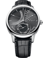 MP6528-SS001-330-1 Masterpiece Lunar Retrograde 43mm Manufacture watch with Moon Phase
